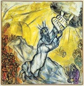 Chagall - Le don des tables de la loi