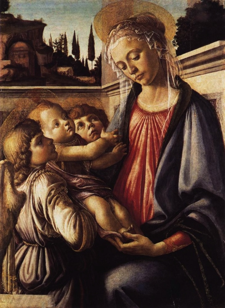 BOTTICELLI_Sandro_Madonna_And_Child_And_Two_Angels