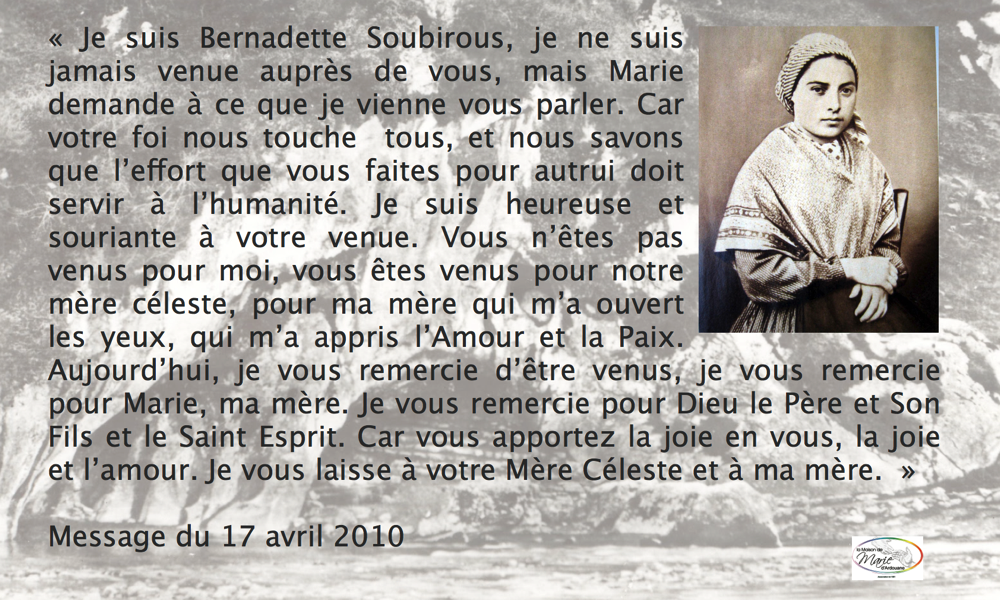 citation Bernadette