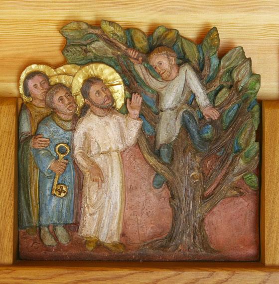 © Détail de la céramique de sœur Mercédès  (abbaye Sainte-Scholastique, Dourgne, Tarn),  Abbaye Notre-Dame-des-Neiges.  Photographie de Bruno Wadoux.
