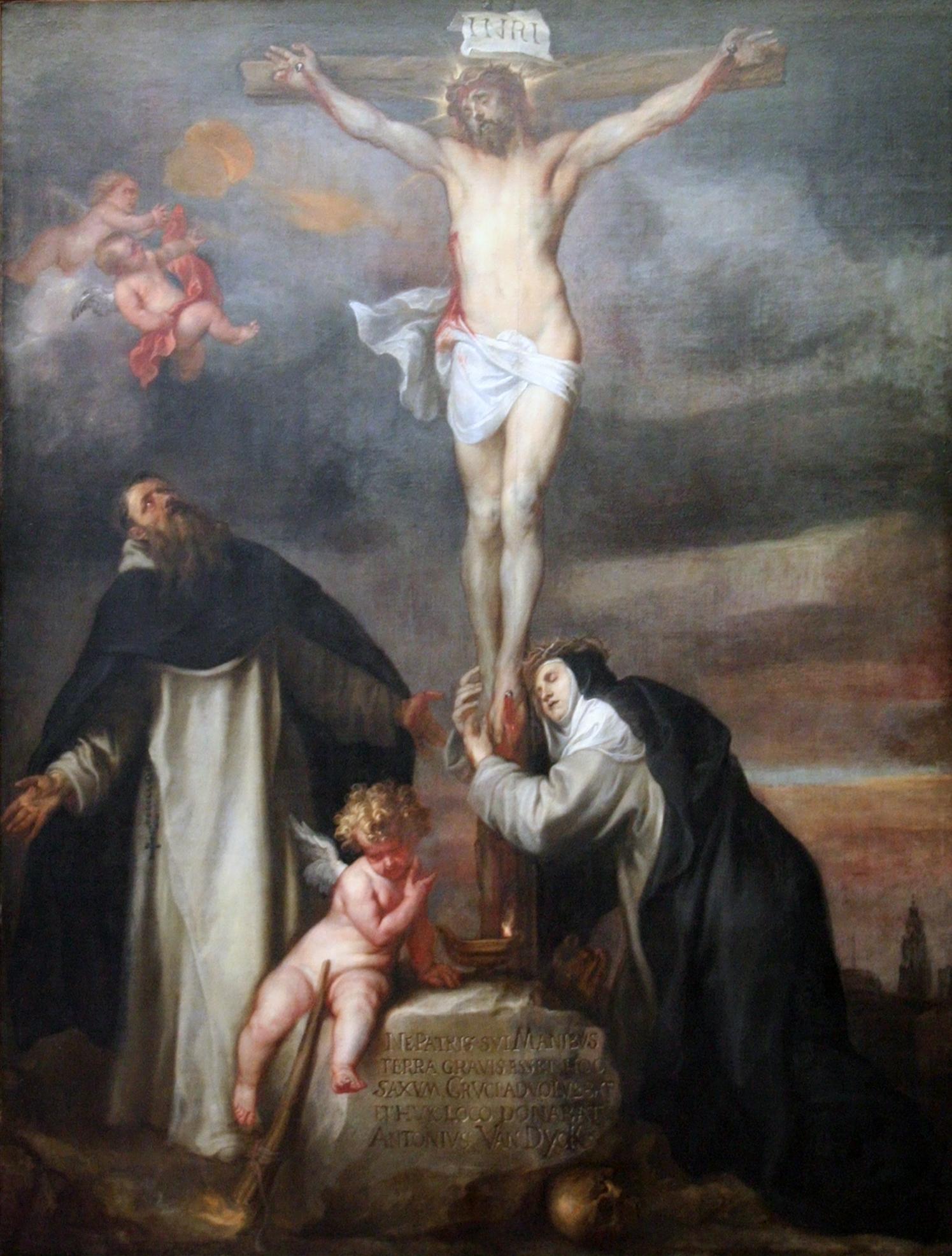 KMSKA - Christus aan het kruis met de heilige Catharina van Sien
