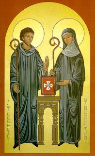 Szent Benedek & Skolasztika - ikon
